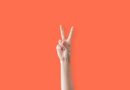 Peace Hand Sign Two Fingers Up Woman