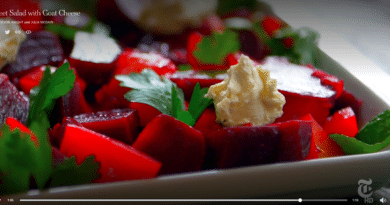 Beets salad with cheese
